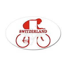 Swiss Cycling Wall Decal