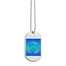 Dolphin Peace Dog Tags