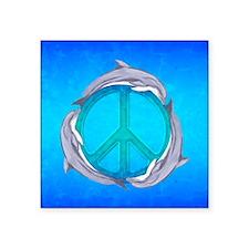 Dolphin Peace Sticker