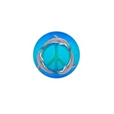 Dolphin Peace Mini Button