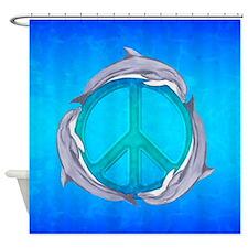 Dolphin Peace Shower Curtain
