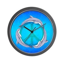 Dolphin Peace Wall Clock