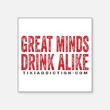 GREAT MINDS - WHITE Sticker