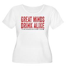 GREAT MINDS - WHITE Plus Size T-Shirt