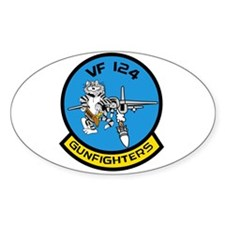 VF-124 Gunfighters Oval Decal