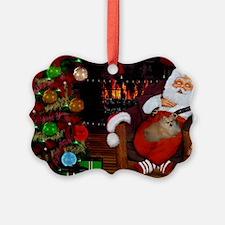 Sleeping Santa Claus with dog Ornament