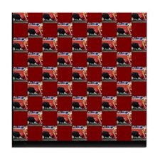 """Bullfight I"" Tile Coaster"
