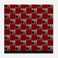 """Bullfight I"" Tile Coaster"