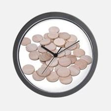 BlankWoodenNickels070911.png Wall Clock