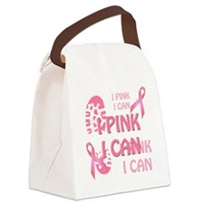 Pink Ribbon I Pink I Can Canvas Lunch Bag