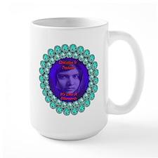 Malala Blue Diamond Mug