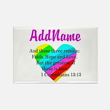 1 CORINTHIANS 13:13 Rectangle Magnet