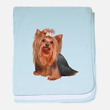 Yorkshire Terrier (#7) baby blanket