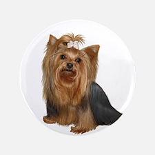 "Yorkshire Terrier (#7) 3.5"" Button"