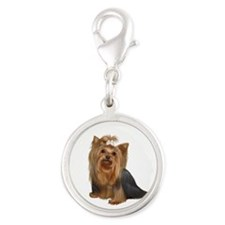 Yorkshire Terrier (#7) Silver Round Charm