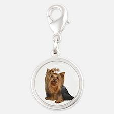 Yorkshire Terrier (#7) Silver Round Charm