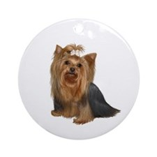 Yorkshire Terrier (#7) Ornament (Round)