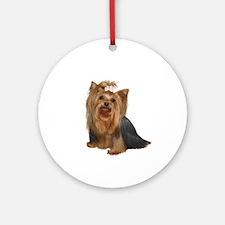 Yorkshire Terrier (#7) Ornament (Round)