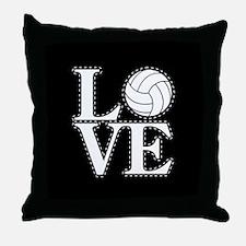 LOVE VOLLEYBALL BLK Throw Pillow