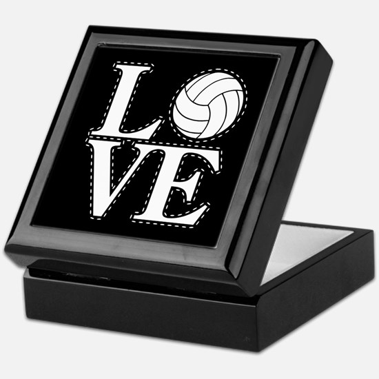LOVE VOLLEYBALL BLK Keepsake Box