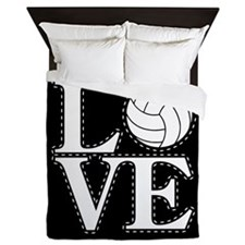 LOVE VOLLEYBALL BLK Queen Duvet