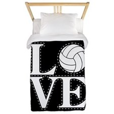 LOVE VOLLEYBALL BLK Twin Duvet
