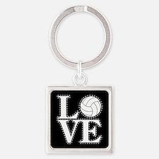 LOVE VOLLEYBALL BLK Keychains