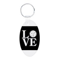 LOVE VOLLEYBALL BLK Keychains