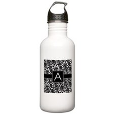 Damask Monogram Letter A Water Bottle