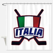Italian Italia Hockey Shower Curtain