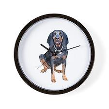 Blue Tick Coon Hound 1 Wall Clock