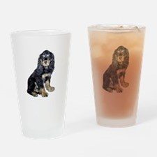 Cocker-black-tan Drinking Glass