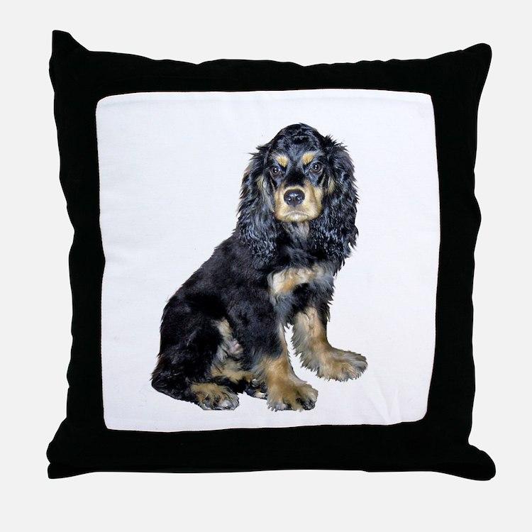 Cocker-black-tan Throw Pillow