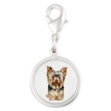 Yorkshire Terrier (#17) Silver Round Charm