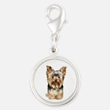 Yorkshire Terrier (#17) Silver Round Charm