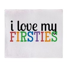 Love My Firsties Throw Blanket