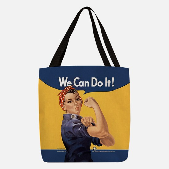 we-can-do-it_9x9.png Polyester Tote Bag