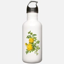 Vintage Yellow Roses b Water Bottle