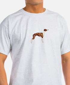 Whippet (brindle-Wht) T-Shirt