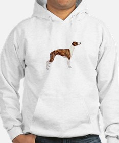Whippet (brindle-Wht) Hoodie