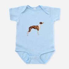 Whippet (brindle-Wht) Infant Bodysuit