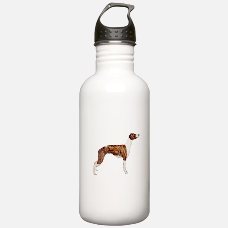 Whippet (brindle-Wht) Water Bottle