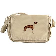 Whippet (brindle-Wht) Messenger Bag