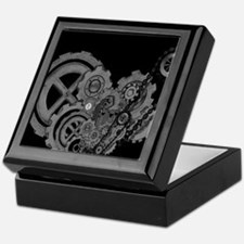 Steampunk Machinery (Monochrome) Keepsake Box