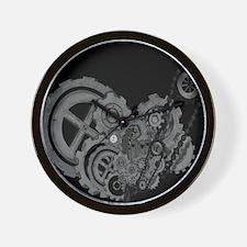 Steampunk Machinery (Monochrome) Wall Clock