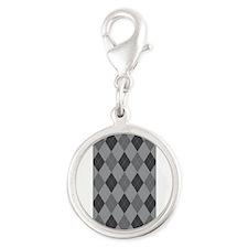 Gray Argyle Charms