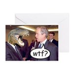Bush WTF? Greeting Cards (Pk of 10)