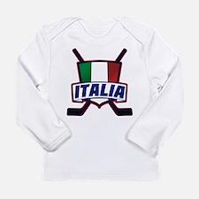 Italian Italia Hockey Long Sleeve T-Shirt