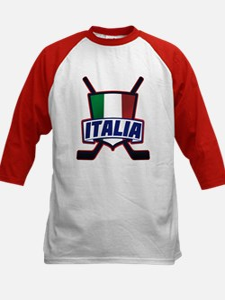 Italian Italia Hockey Baseball Jersey