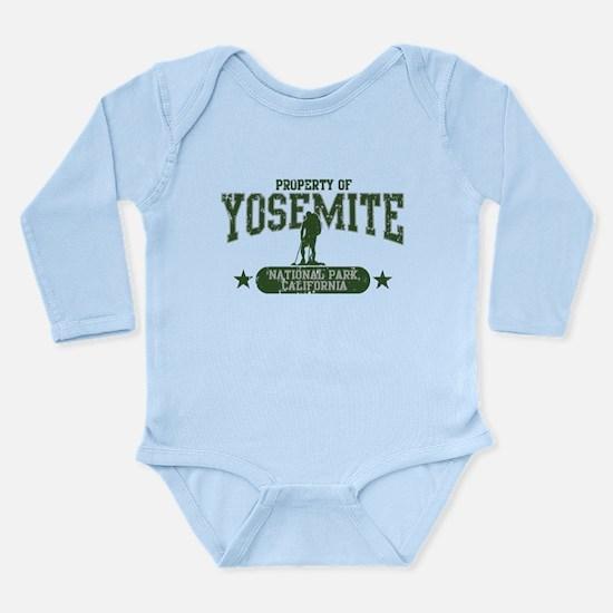 Yosemite Nat Park Hiker Guy Long Sleeve Infant Bod